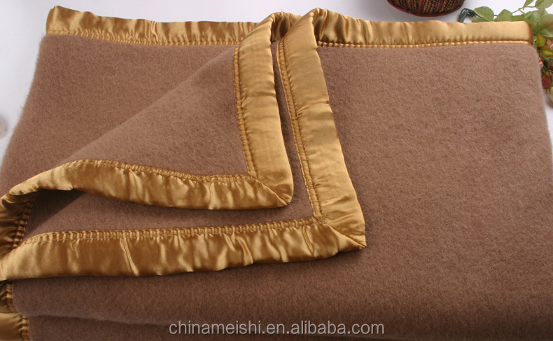 Handmade Thick Wool Blanket For Single Or Double Bed Solid Color ...