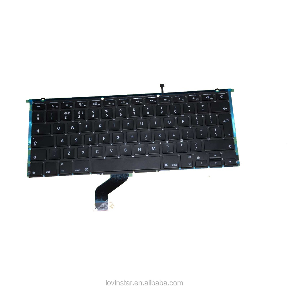 "New Arrival Laptop Replacement UK backlight keyboard for Apple MacBook Pro Retina 13"" A1425 2012"