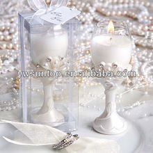 Toast-worthy champagne flute candle favors wedding favor