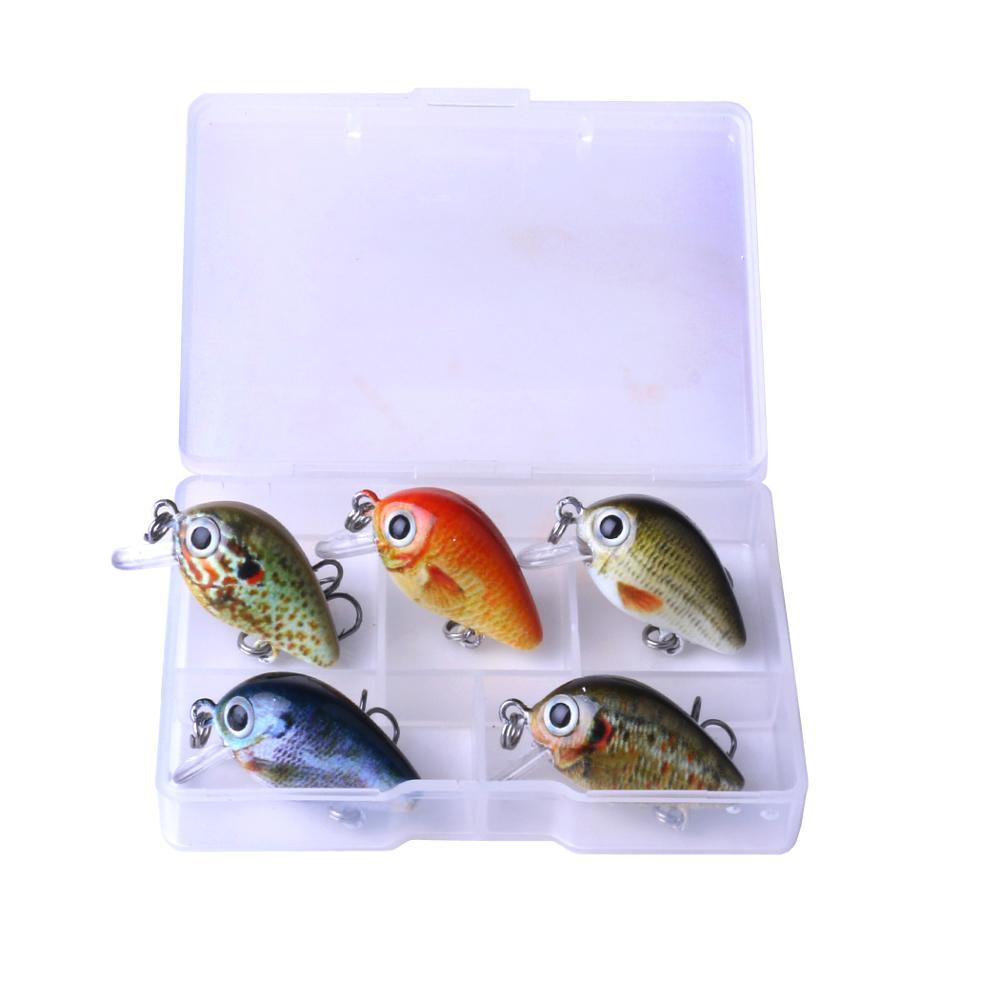ราคาโรงงานใหม่5ชิ้น/ล็อต2.7cn 1.5กรัมมินิสร้อยพลาสติกcrankbaitตกปลาเหยื่อล่อตกปลาชุดสำหรับการตกปลา