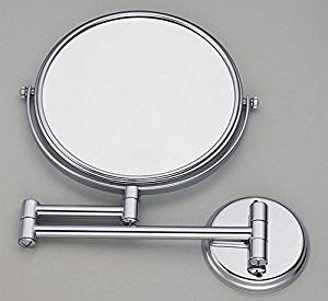 European style wall mounted folding antique copper mirror bathroom mirror double-sided dressing mirror-8 inch D plated circular base 8-inch mirror