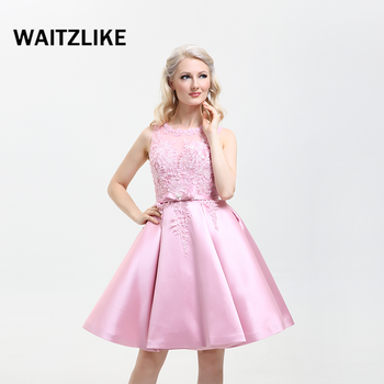 Guangzhou Factory Designs Semi Formal Prom Dress 2018pink Prom