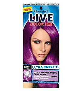 Get Quotations Schwarzkopf Live Color L Ultra Brights 94 Purple Punk Semi Permanent Hair Dye