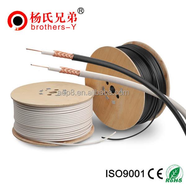 Dual Thin 26awg Rg6/rg6u Shield Coaxial Cable - Buy Double ...