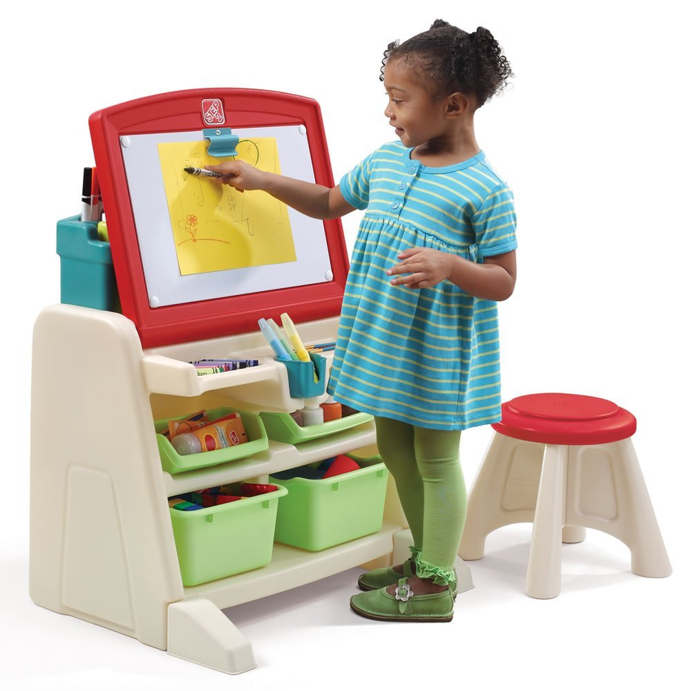 Superbe Get Quotations · Step2 Flip And Doodle Easel Desk With Stool For Toddlers    Kids Durable Art Drawing Dry