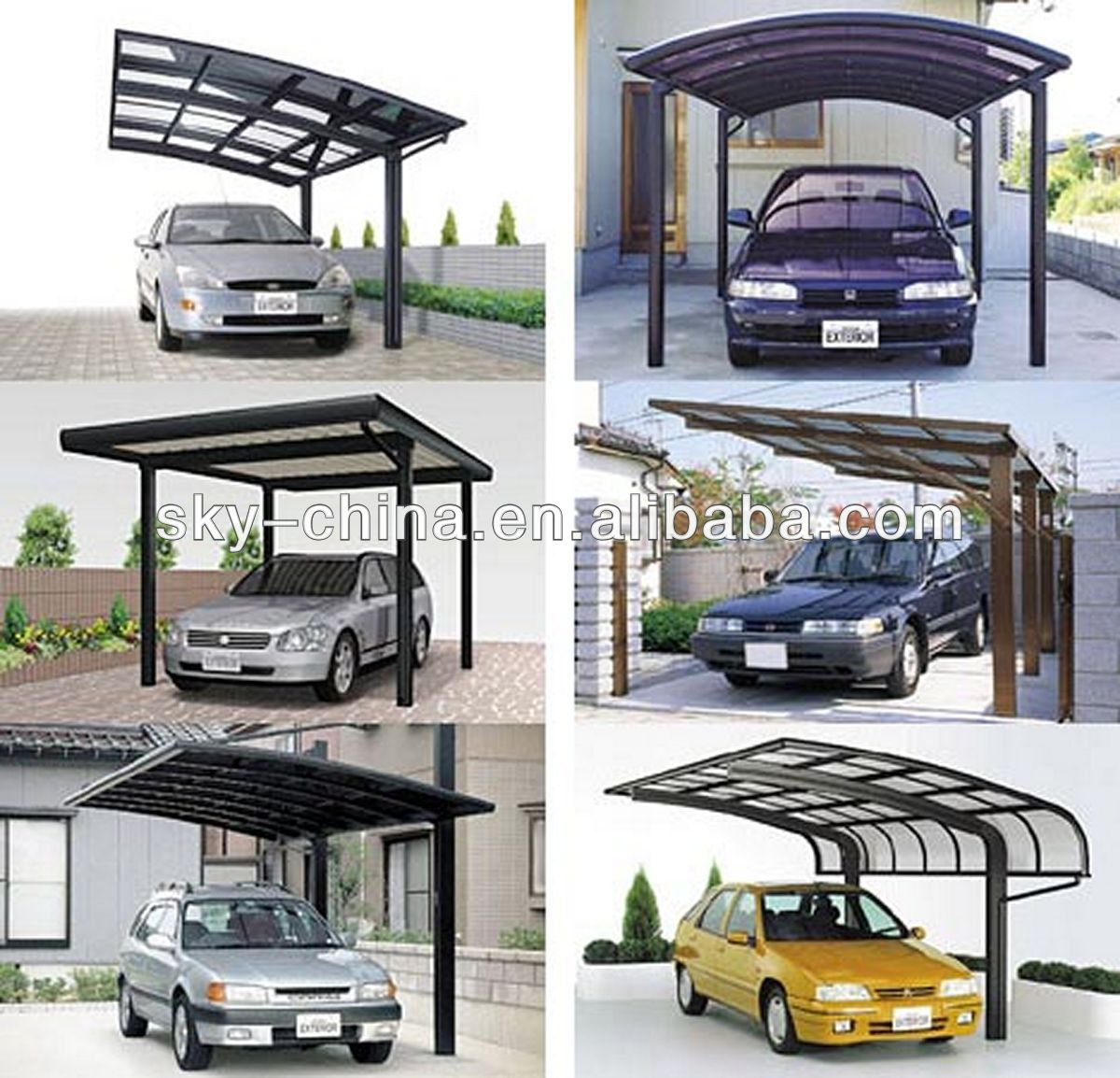 100% Anti-uv Aluminum Carports Garages With Polycarbonate Roof For Car Shelter - Buy Polycarbonate CarportsCarport Garage WoodenInflatable Carport Garage ...  sc 1 st  Alibaba & 100% Anti-uv Aluminum Carports Garages With Polycarbonate Roof For ... memphite.com