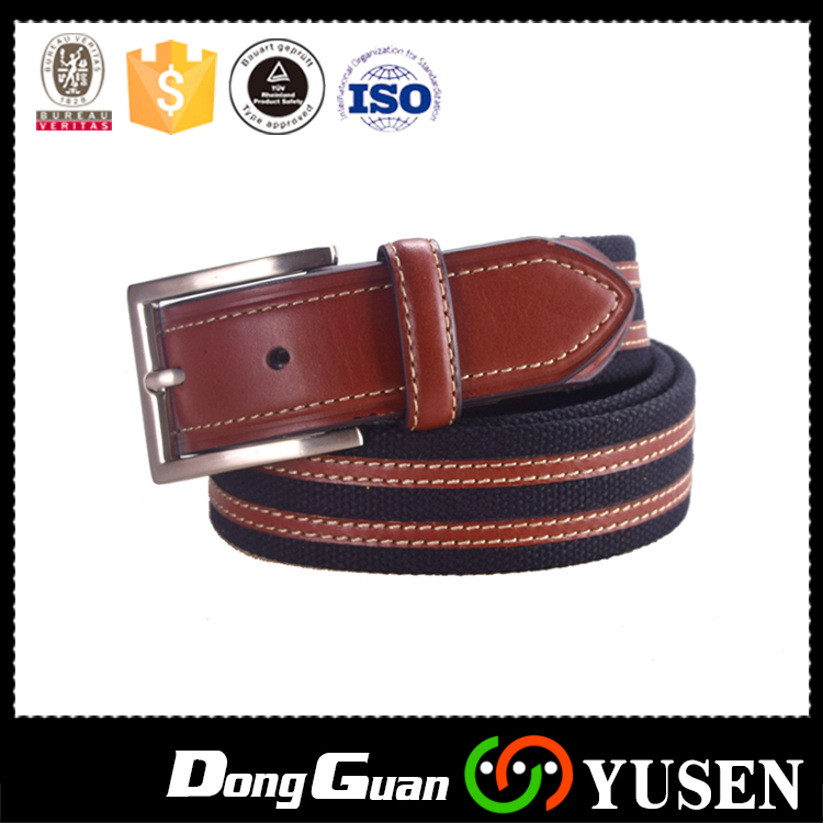 Half Leather and Cotton Durable Military Canvas belts