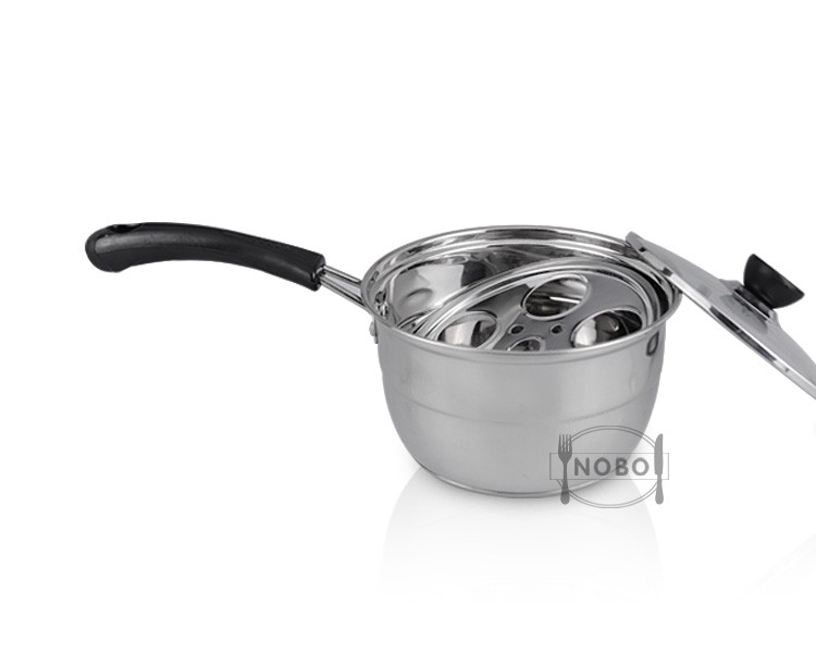NOBO stainless steel milk pan steam pot with single handle
