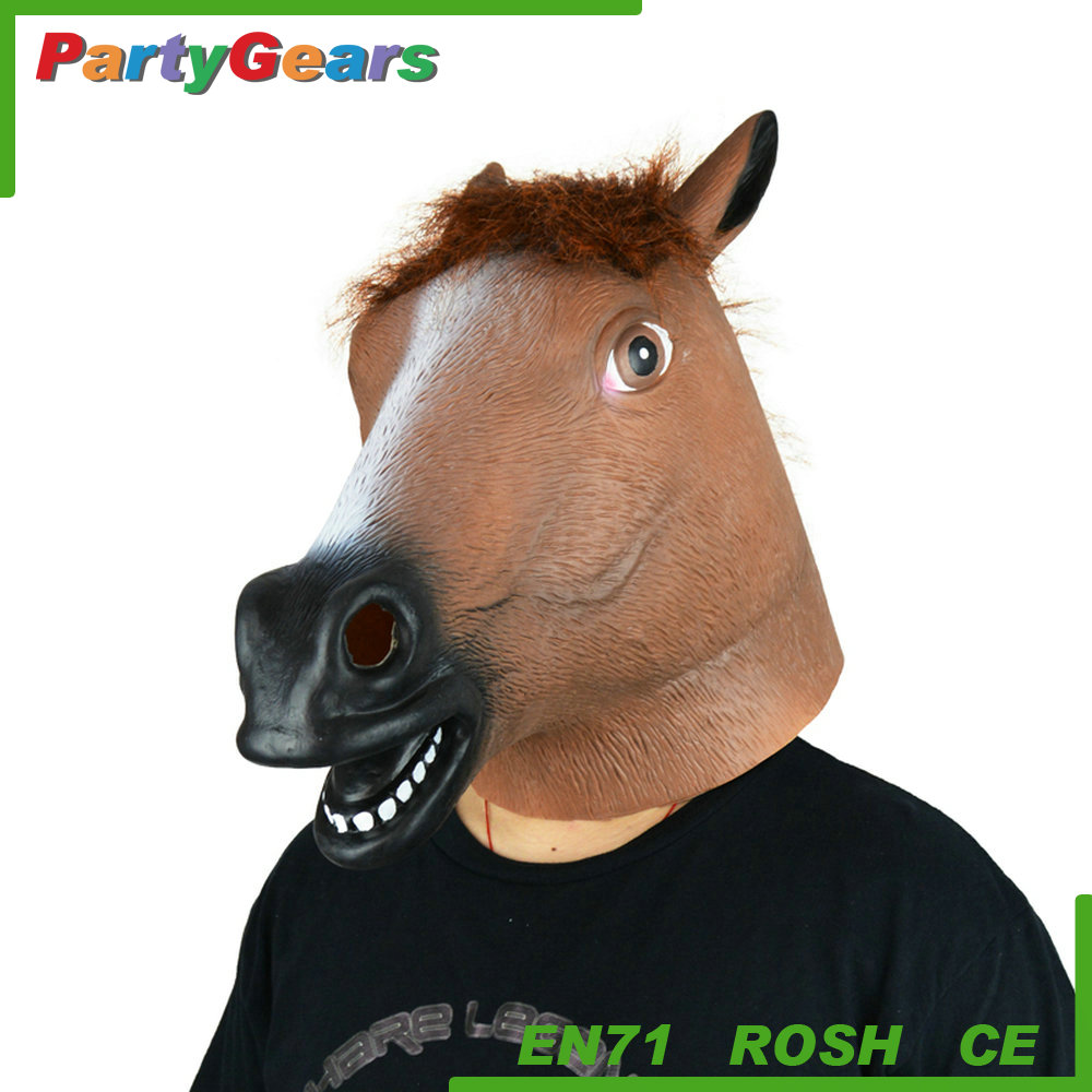 Hot Sales Latex Carnical Costume Horse Party Mask For Halloween