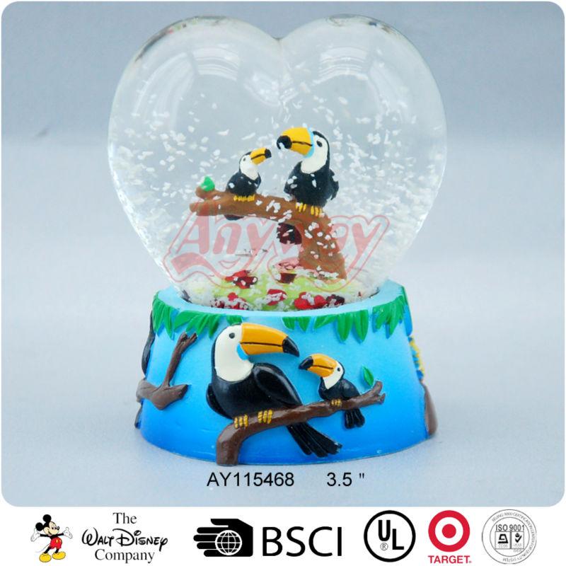 70mm Heart Shape Ice Cream Insert Custom Water Snow Globe
