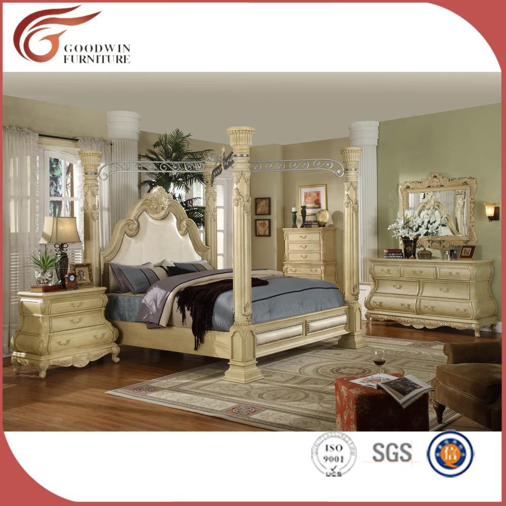 King Size cartel cama con dosel 6 unidades dormitorio WA149-Conjunto ...