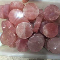 Wholesale Natural Rose Quartz crystal Slice Rose crystal Cylinder For Raw material