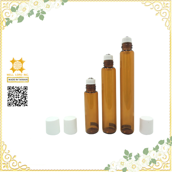 glamorous amber essential scent oil glass roll on bottles