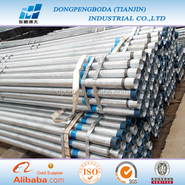 BPT/PT/BSPT threaded 3inch OD hotdipped galvanized pipe