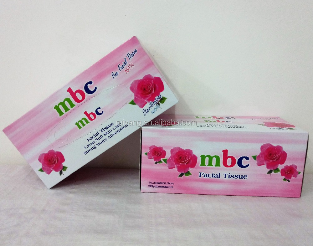 promotional colorful box fine and top quality box facial tissue paper