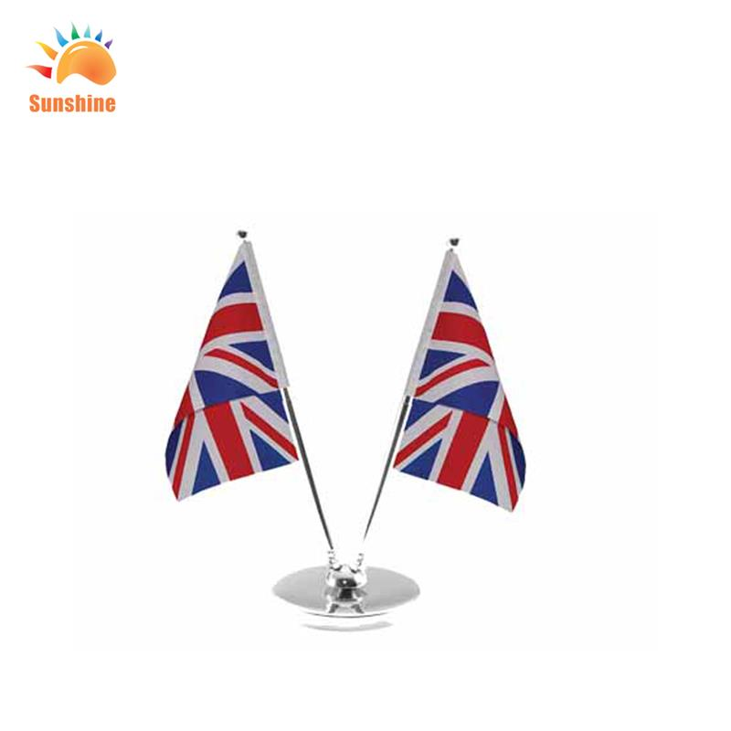 flag customized custom color promotion desk flag with plastic stan pen table flags