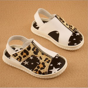 D80780F 2015 leather children fashion sandal