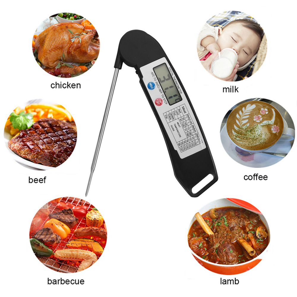 Ultra-fast measure digital meat bbq thermometer with 304 stainless steel probe DTH-135
