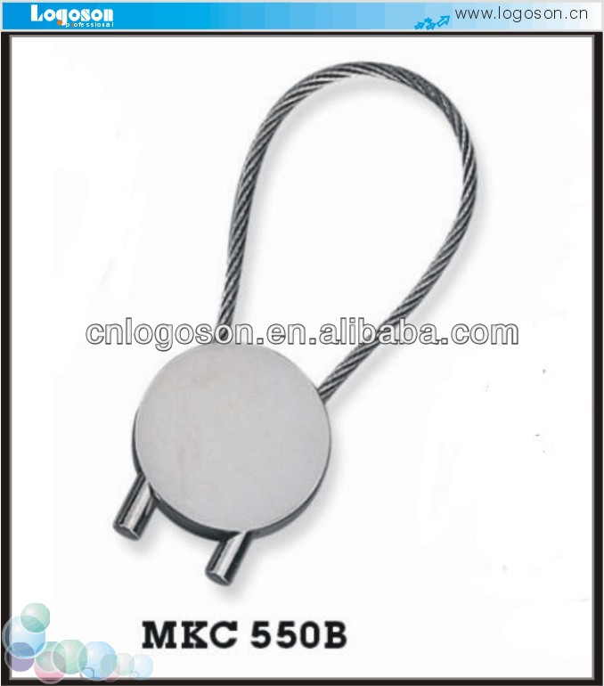 Good quality Steel Wire Rope all types of key chains carabiner