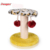 Manufactory supplier product colorfully soft plush cat scratcher board cat tree with ball,cat board,sisal cat toy