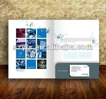 Cardboard Presentation Folder With Business Card Holder Buy