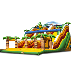 Popular NEVERLAND TOYS Toboggan Du Monde Dino Giant Jumping Inflatable Slide Combo Used Bounce House For Sale