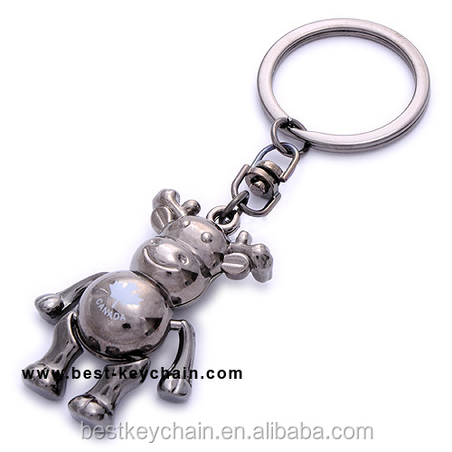 souvenir canada custom 3d moose metal key chain (BK11158)