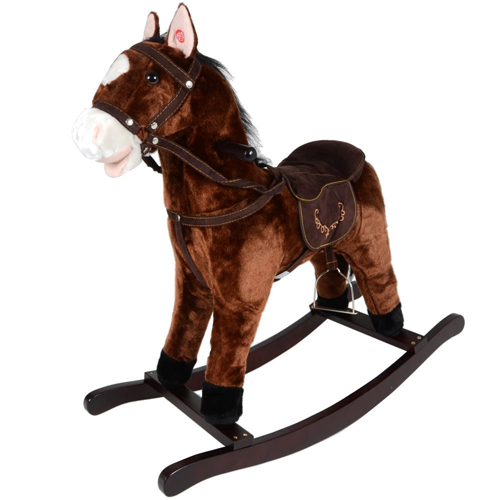 Jolly Ride Brown Rocking Horse Pony With Sound