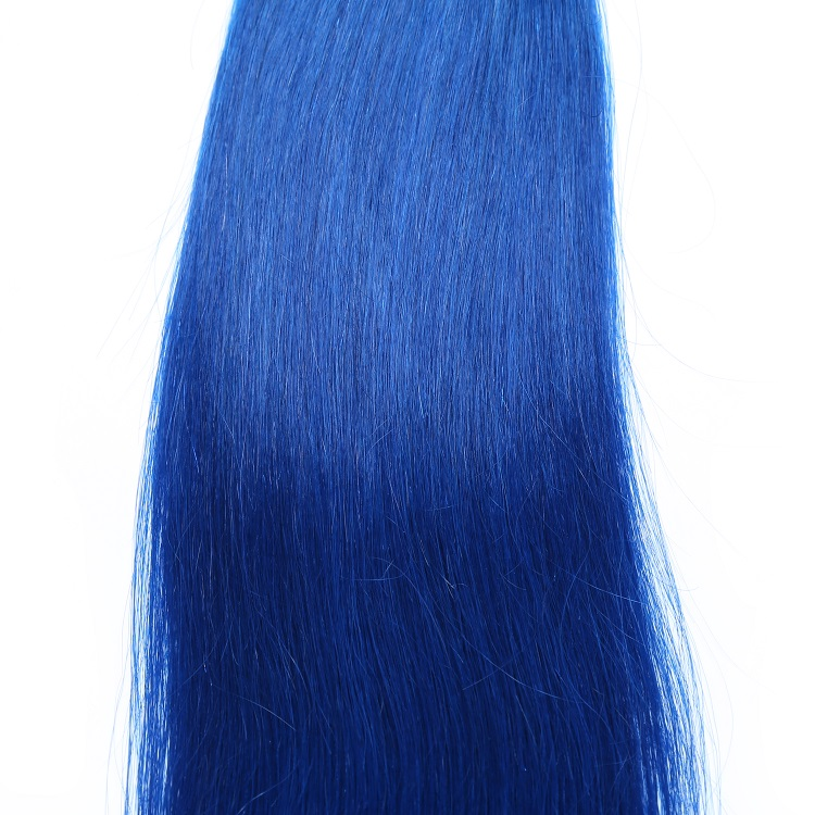 JcXBL Drop shipping Can be bleached and dyed 100% virgin peruvian hair,double weft dark blue wholesale price hair extensions