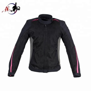 Black motorbike jacket men's racing clothing