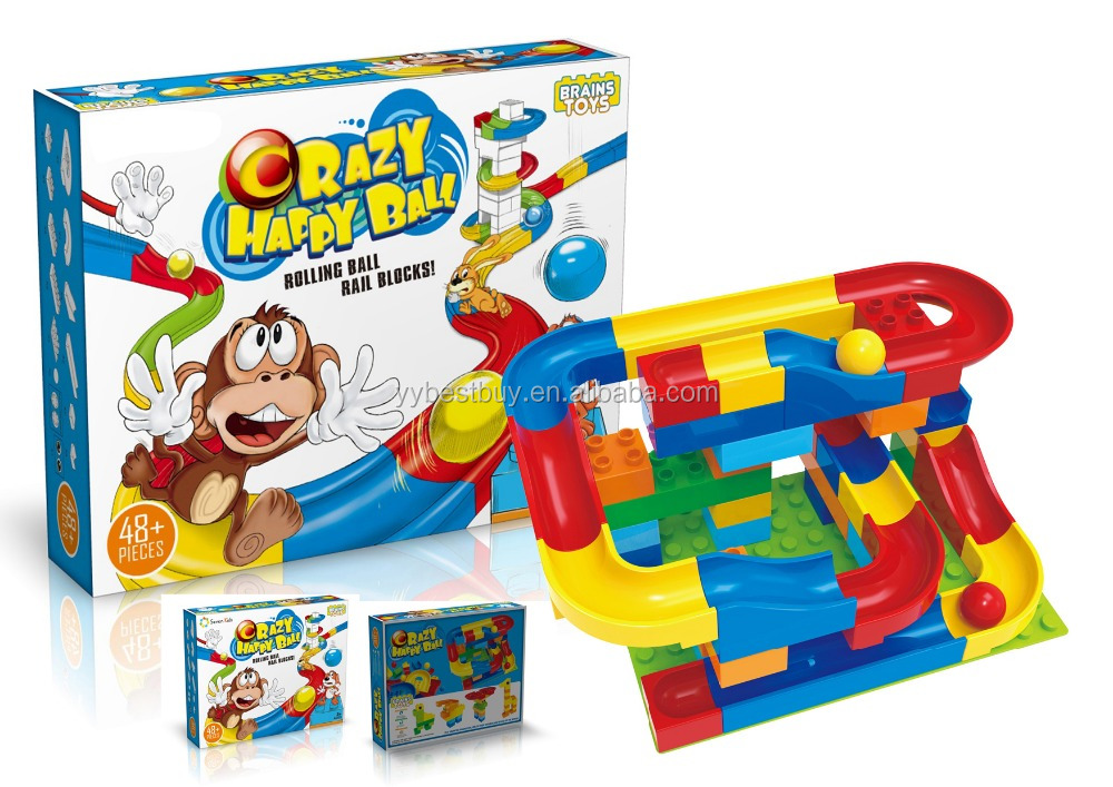 Marble race run game maze balls track building blocks building blocks 48pcs kit