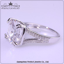 Guangzhou 2017 latest product women style single stone ring designs 925 silver jewelry ring