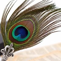 New design wholesale stationery china peacock feather ballpoint pen decorative ballpoint pen