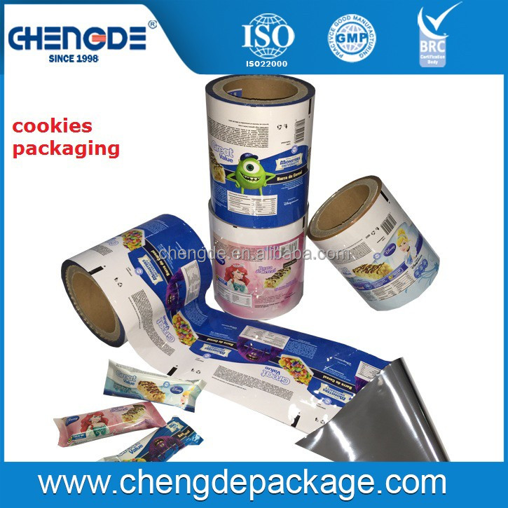 Unique Design Hot Sale printed film roll for biscuit and candy