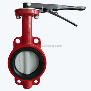 Bare Shaft Ductile Iron PN16 Butterfly Valve