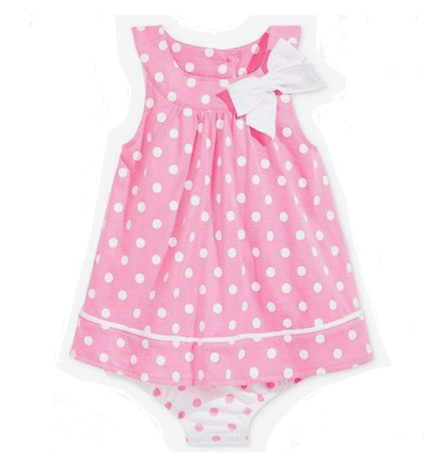 4fbeab106c11 Get Quotations · First Impressions Baby Girl Sunsuit Pink with White Polka  Dots 24m