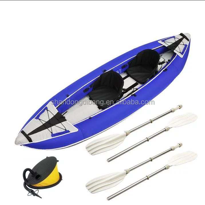 DBB10 Factory wholesale Cheap New blue Air Rafting Rowing Inflatable Kayak Ski Boat