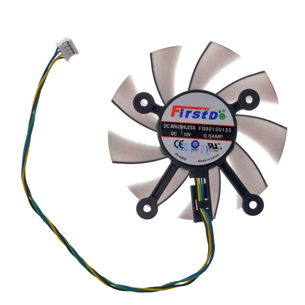 FD8015U12S Graphics Card Fan 75mm DC 12V 05A 4 Pin Cooling For EAH5830