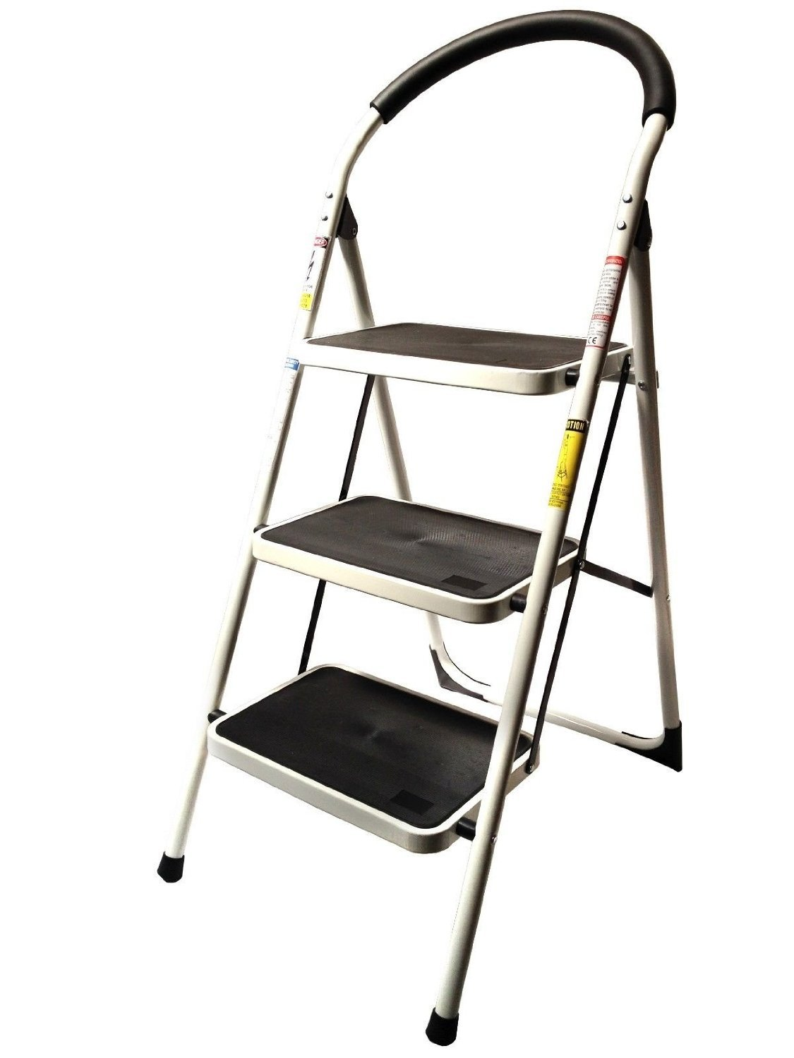 Get Quotations · LavoHome 330lbs Upper Reach Reinforced Metal Folding Step Ladder  Stool Household Kitchen Use (Three Step