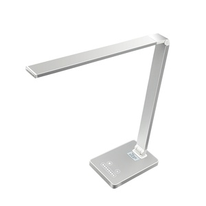 Simple design aluminum dimmable study reading led table lamp