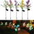 Christmas Outdoor Decoration LED Color Changing Light Solar Garden LED Tulip Lily Rose Flower Lights