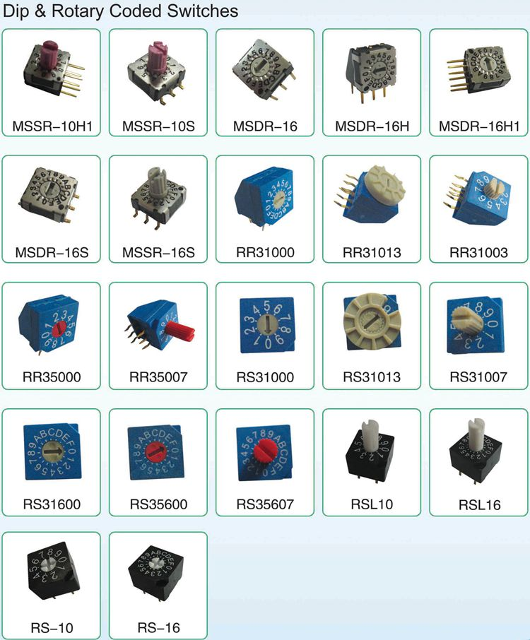CK rotary smd dip switch code switch 16 position low profile mini rotary dip switch 10 position 8 position