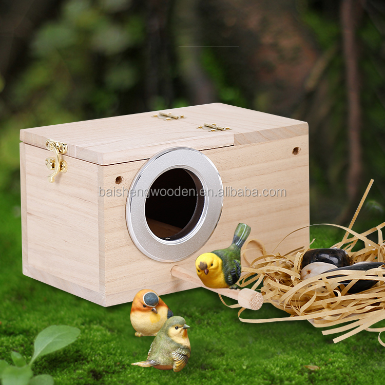 Outdoor garden decorative wood bird's nest wooden Breeding box