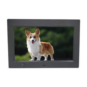Amazon Ebay  hot sell digital photo frame with motion sensor and remote  control auto play function for advertising play