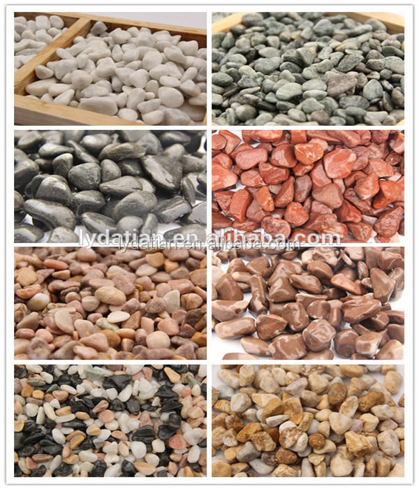 fish aquarium natural pebble colored stone