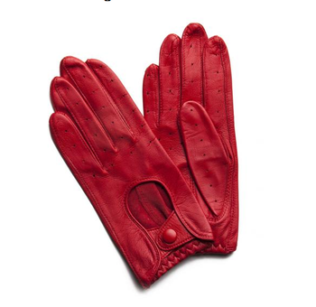 cef5715fb Fratelli Orsini Women's Italian Leather Driving Gloves with Contrast Welting