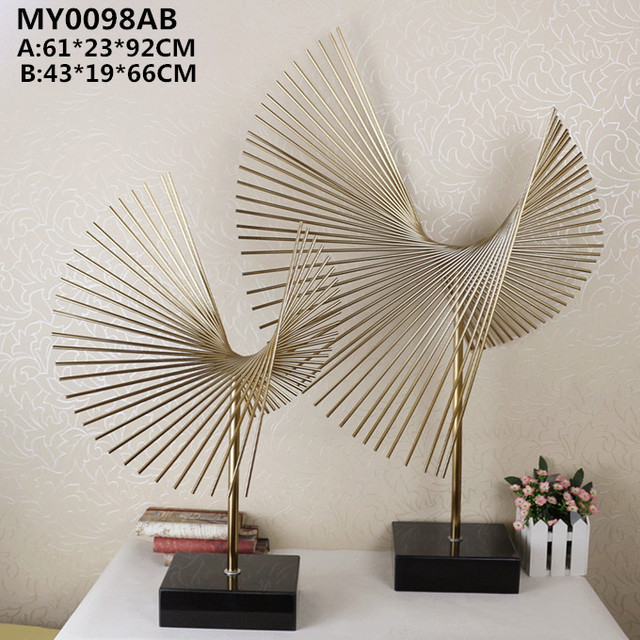 Modern metal crafts abstract sculpture for home decoration