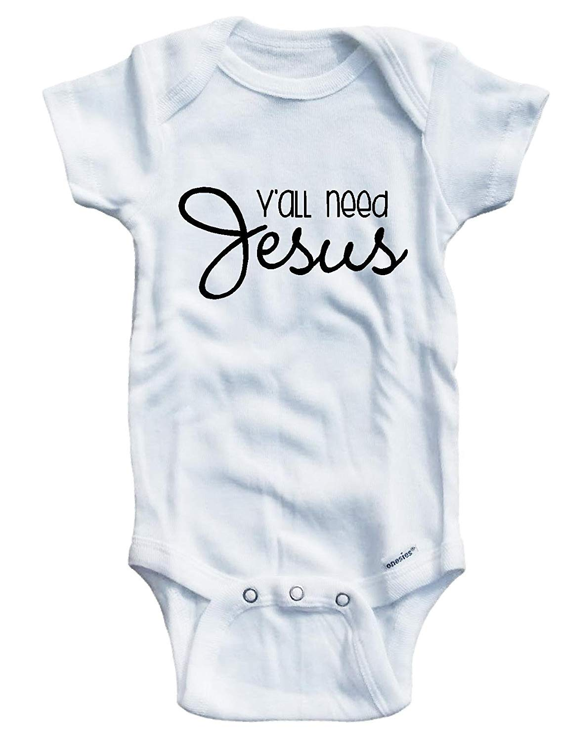 Baby Tee Time Boys Y'all need Jesus One piece