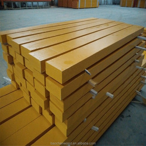 Waterproof Yellow paint pine LVL timber construction beams