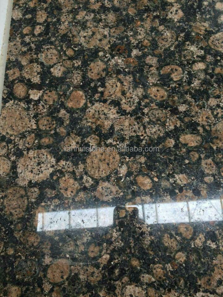 granito de color beige marrn bltico del granito encimera de color azulejo